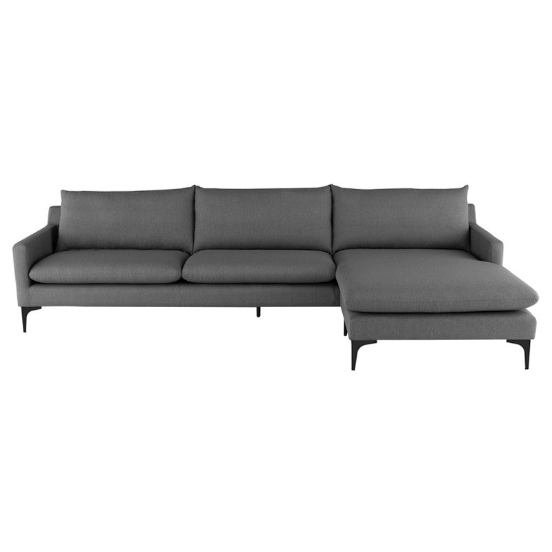 Anders Sectional Sofa-Slate Grey