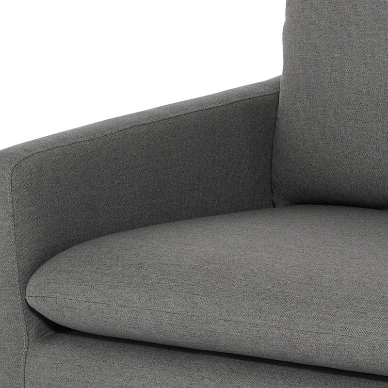 Anders Sofa - Slate Grey | Brushed Gold Stainless Steel Legs