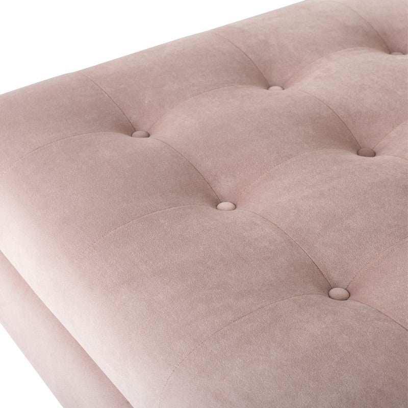 Janis Sectional Sofa-Blush | Brushed Stainless Steel Legs