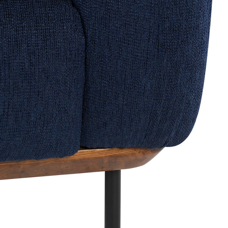 Benson Sofa - True Blue | Matte Black Steel Legs
