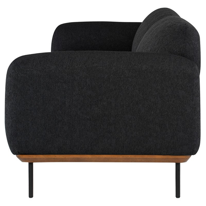 Benson Sofa - Activated Charcoal | Matte Black Steel Legs