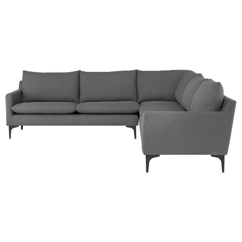 Anders L Sectional Sofa-Slate Grey