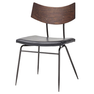 Soli Dining Chair - Walnut Black