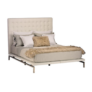 Bentley King Bed - White
