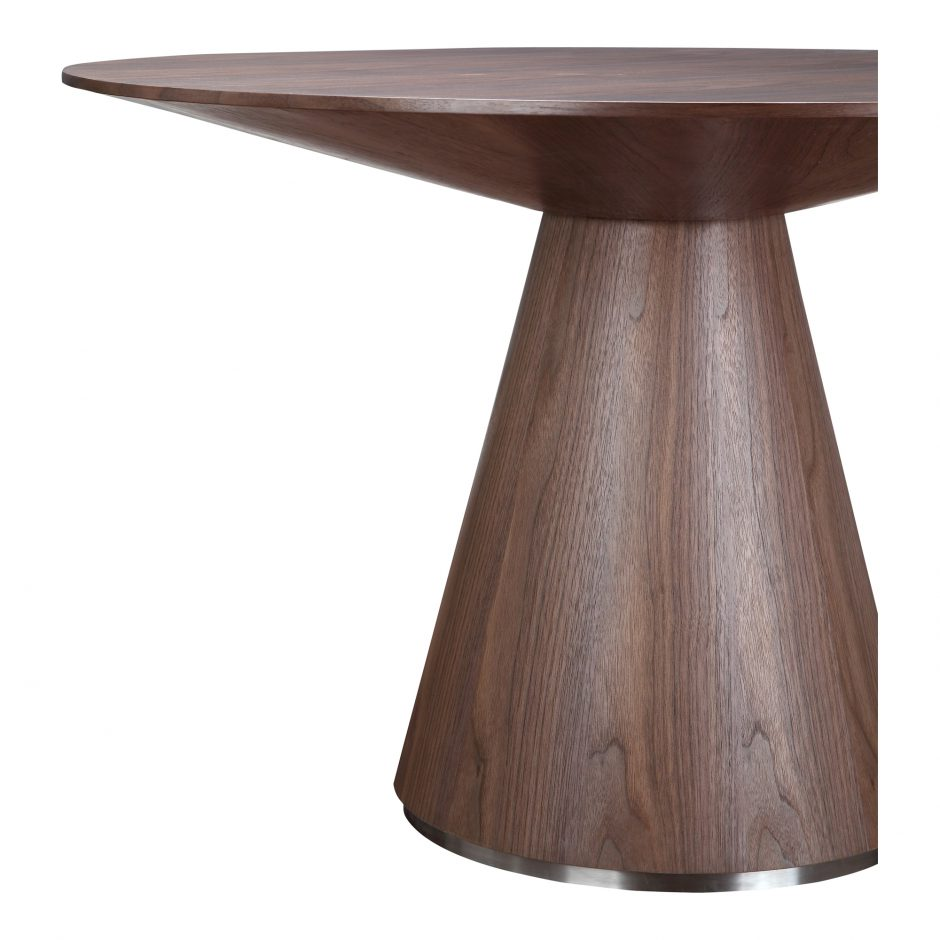 Otago Dining Table Round Walnut