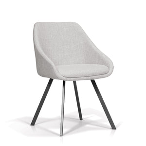 Angie Dining Chair-Pebble