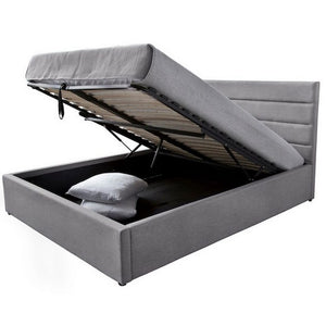 Justin Double Storage Bed – Greige