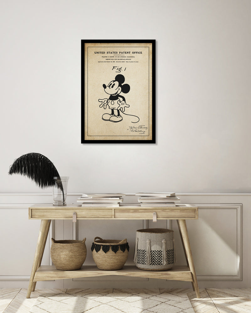 Mickey Mouse Patent Vintage