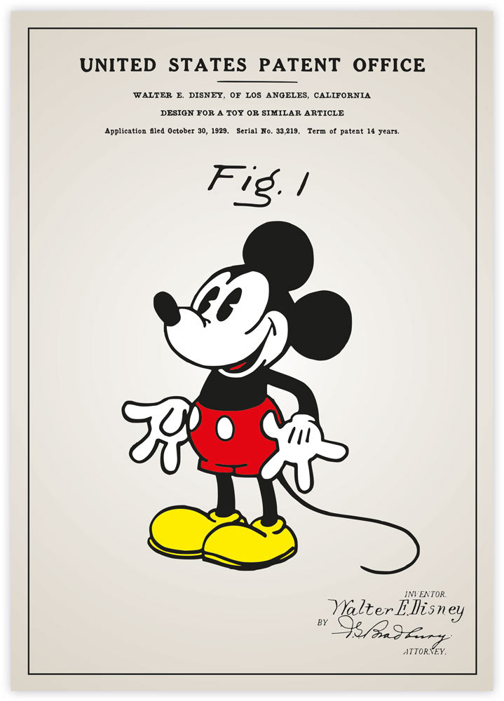 Mickey Mouse Patent