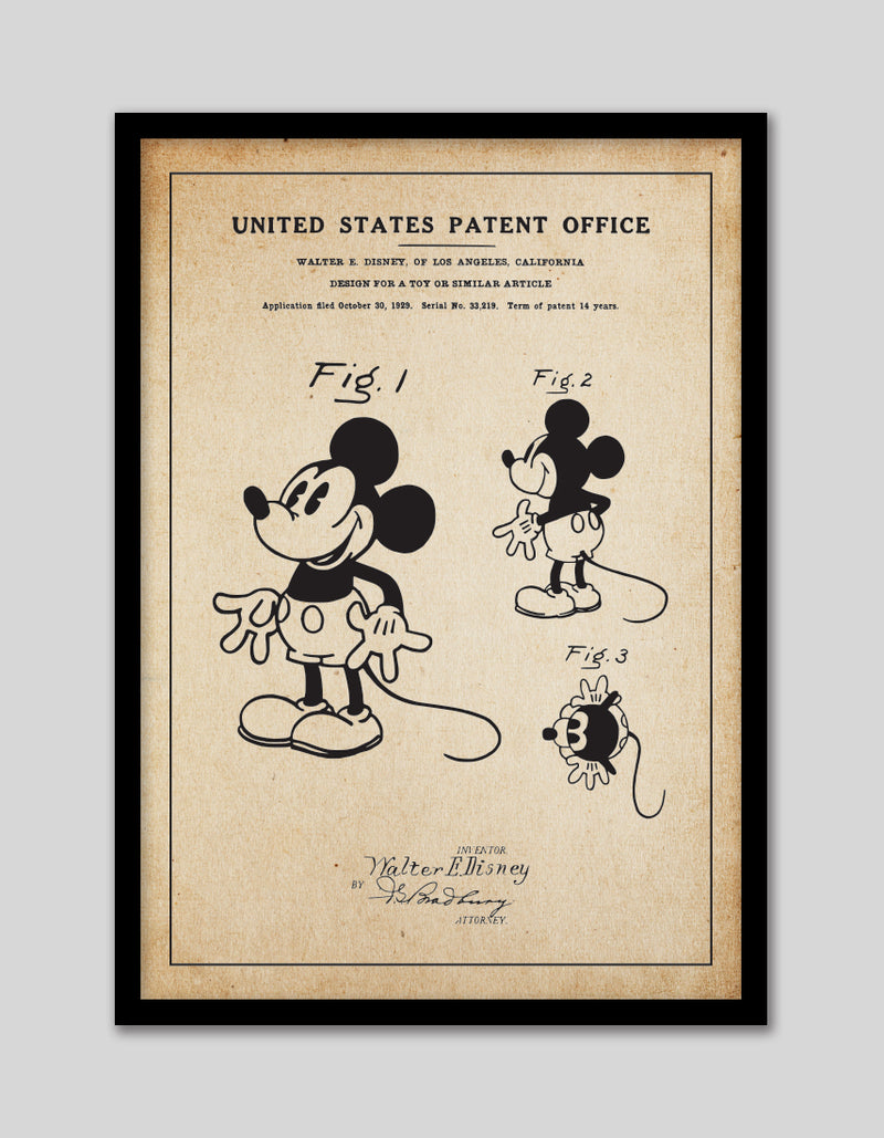 Three Mickeys Patent Vintage