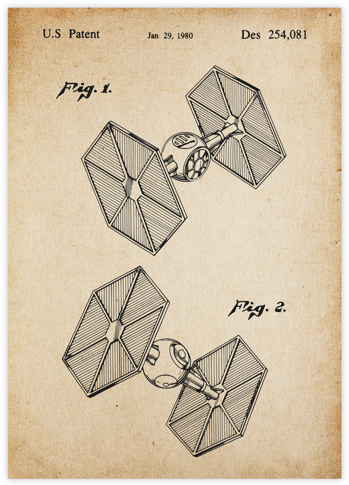 TIE Fighter Patent Vintage