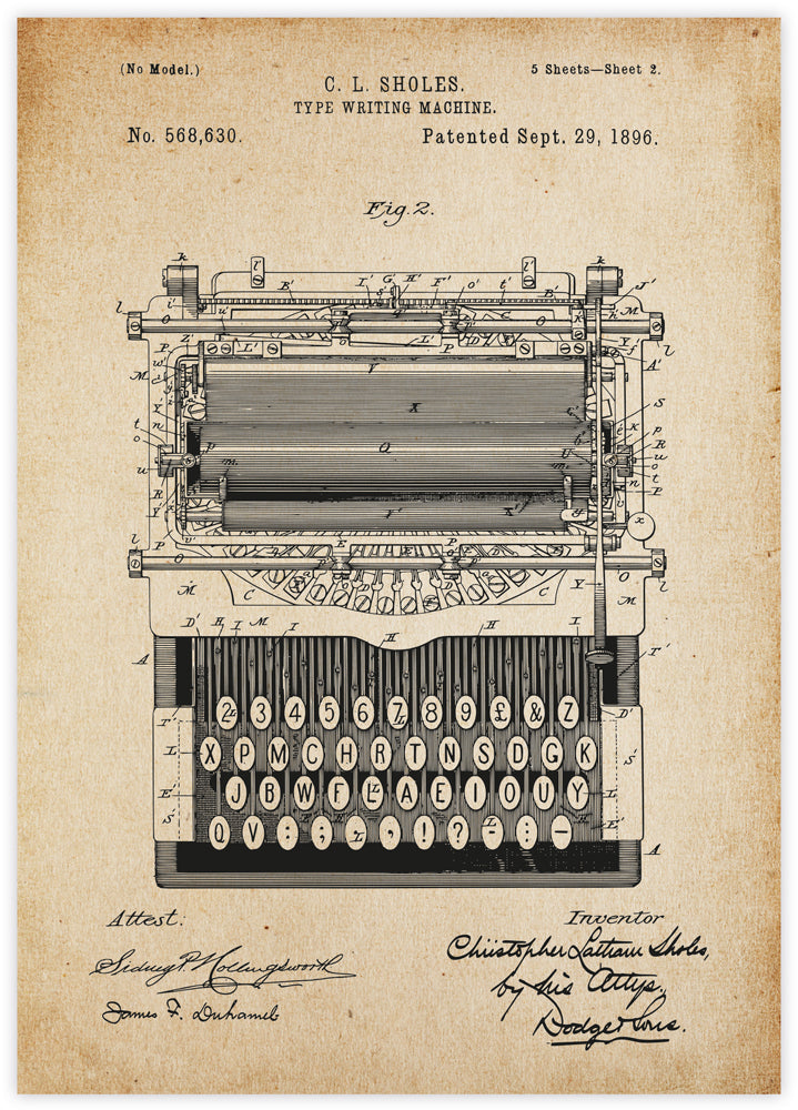Typewriter Machine Patent