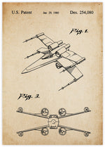 X-Wing Fighter Patent Vintage