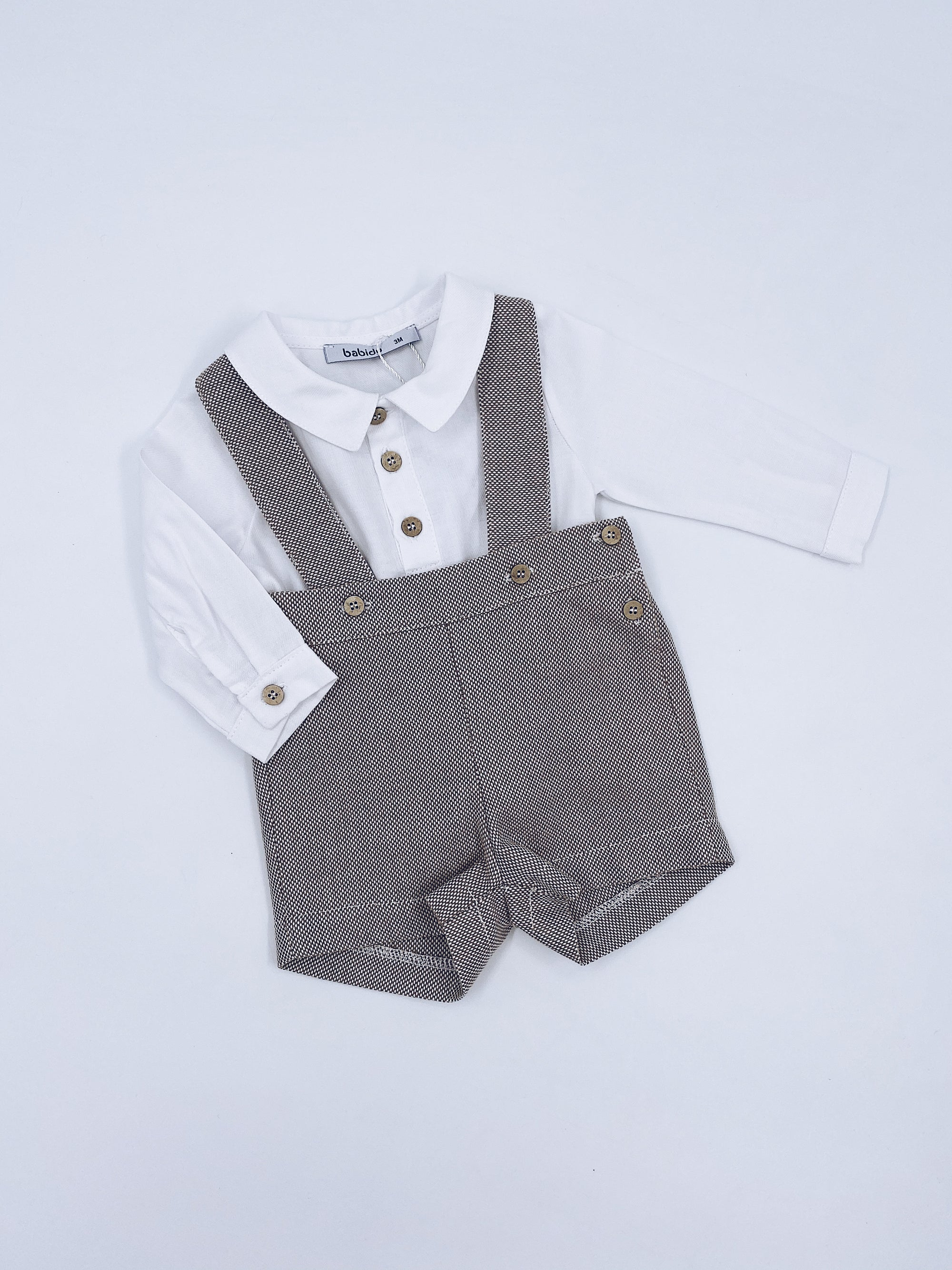 Beautiful boys 2 piece dungarees set