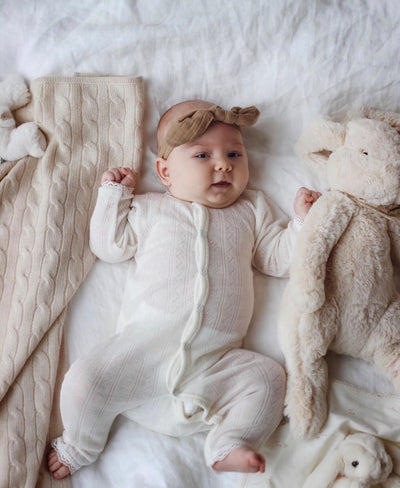 Beautiful Joha Wool-Silk Girls Romper.