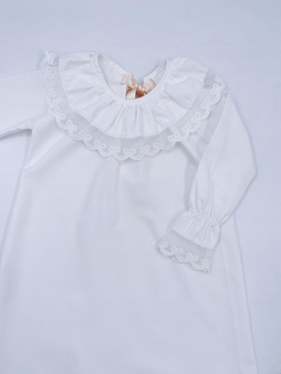 Beautiful ivory nightgown with pretty lace details.