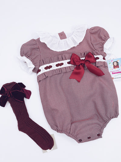 Beautiful Sonata romper with bow details