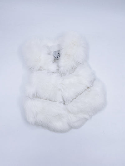 MILOVES SIGNATURE Synthetic fur vest in Ivory/white