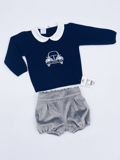 Beautiful boys knitted 2 piece shorts set