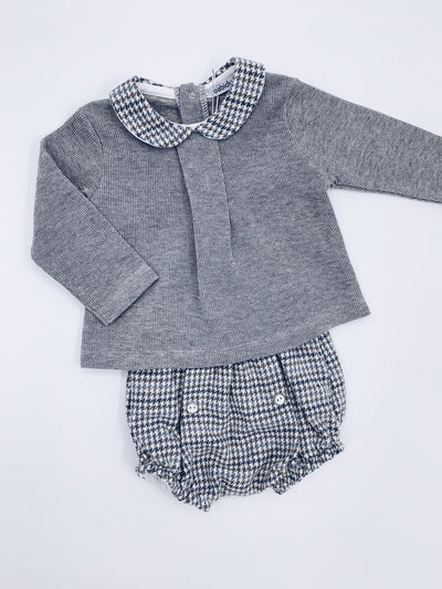 Babidu Grey 2 piece short set