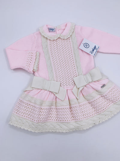 RAHIGO Knitted Dress in Baby pink