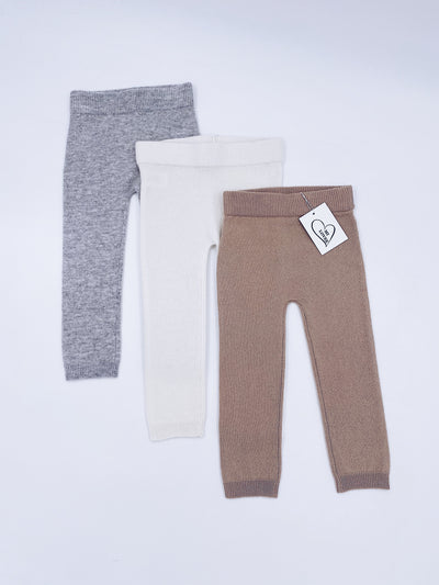 MI LOVES SIGNATURE Cashmere knit trousers
