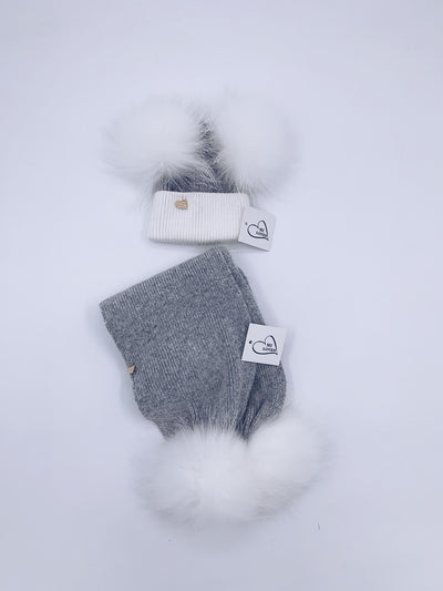 MI LOVES SIGNING KIDS ANGORA SCARF (combo colour)