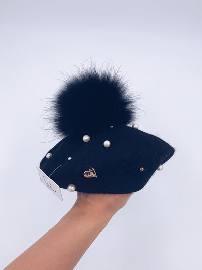Big kids/Adults Pearl beret with pompom