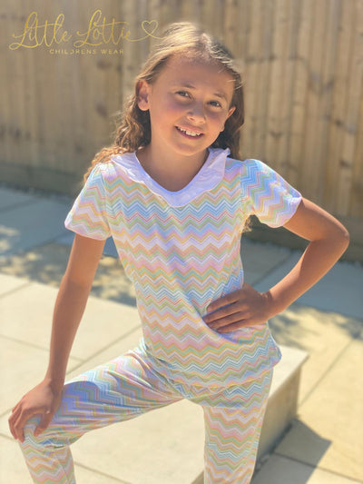 Little Lottie ZigZag summer Lounge wear set