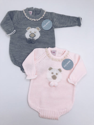 Beautiful Knitted Bear romper