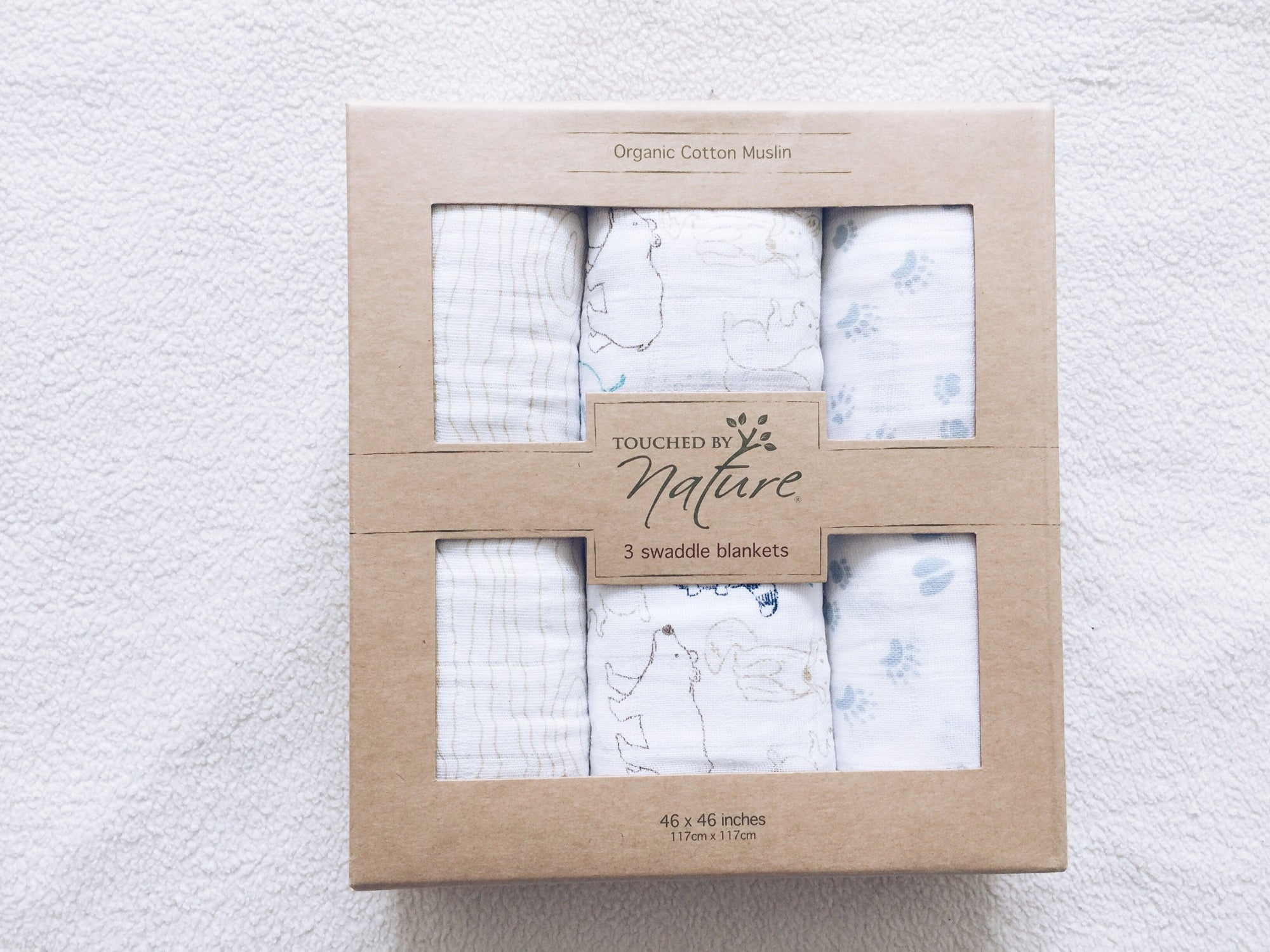 Touched by Nature,,ORGANIC'' cotton muslin (3pack)