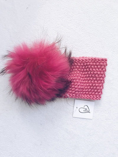 MILOVES Signature Headband with fur pompom