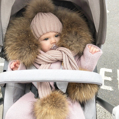 Natural colour Raccon fur Trim for kids jacket or cardigan (Trim Only)