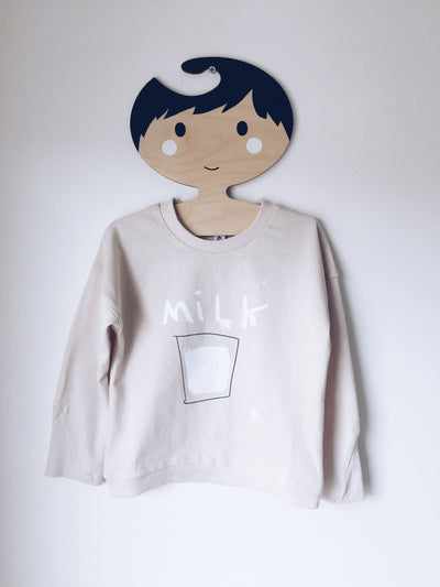 Milk long sleeve top