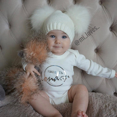 MILOVES Signature Double pompom hat!!