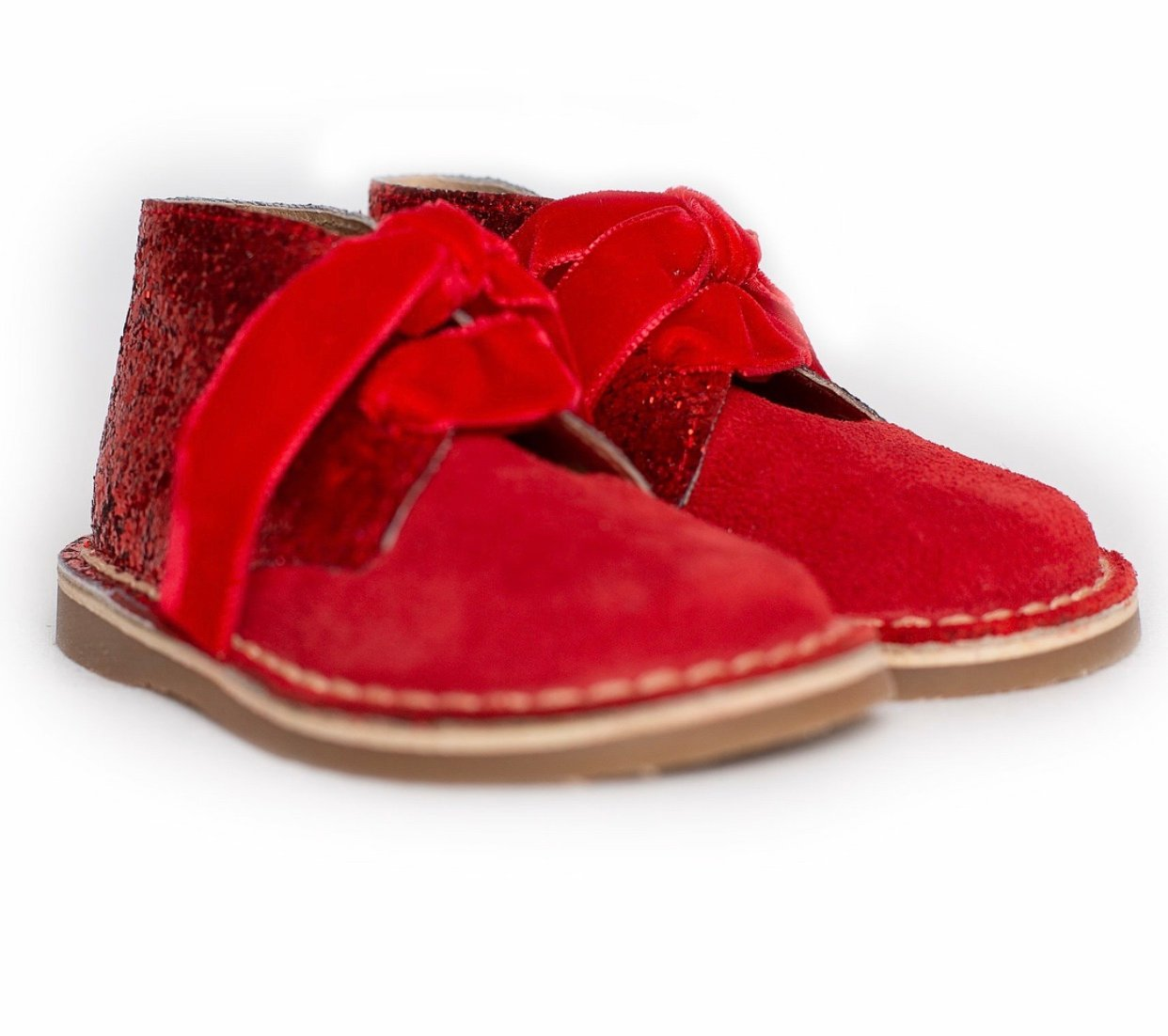 Rochy Glitter Boots red