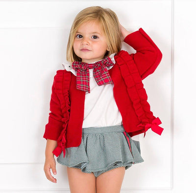 Rochy 2 piece Frilly neck and bow details Blouse and Bloomers set