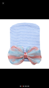 Fancy bow baby hospital hat