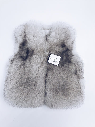 MI LOVES SIGNATURE Luxurious Fox fur vest