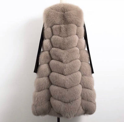 PRE-ORDER (Delivery in 2-3 weeks)MI LOVES SIGNATURE ELITE COLLECTION PRESENTS ADULT LUXURIOUS LONG FOX FUR VEST