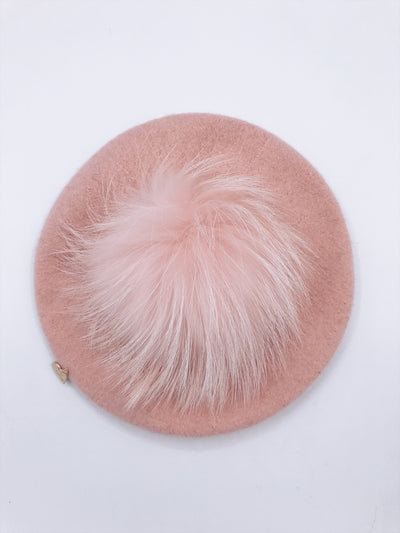 MI LOVES SIGNATURE KIDS POMPOM BERET