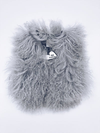 MILOVES Signature Luxurious Mongolian  fur kids vest