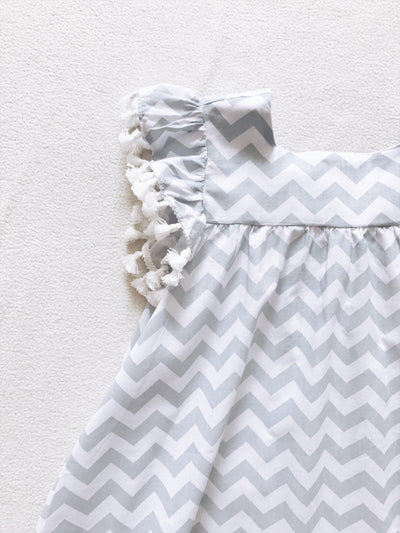 Beautiful Chevron Dress with tassels