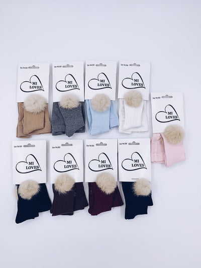 MI LOVES SIGNATURE POMPOM TIGHTS