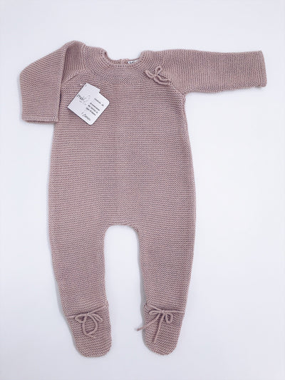 Classic and timeless knitted babygrow