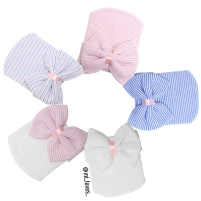 Baby hospital hat with bow
