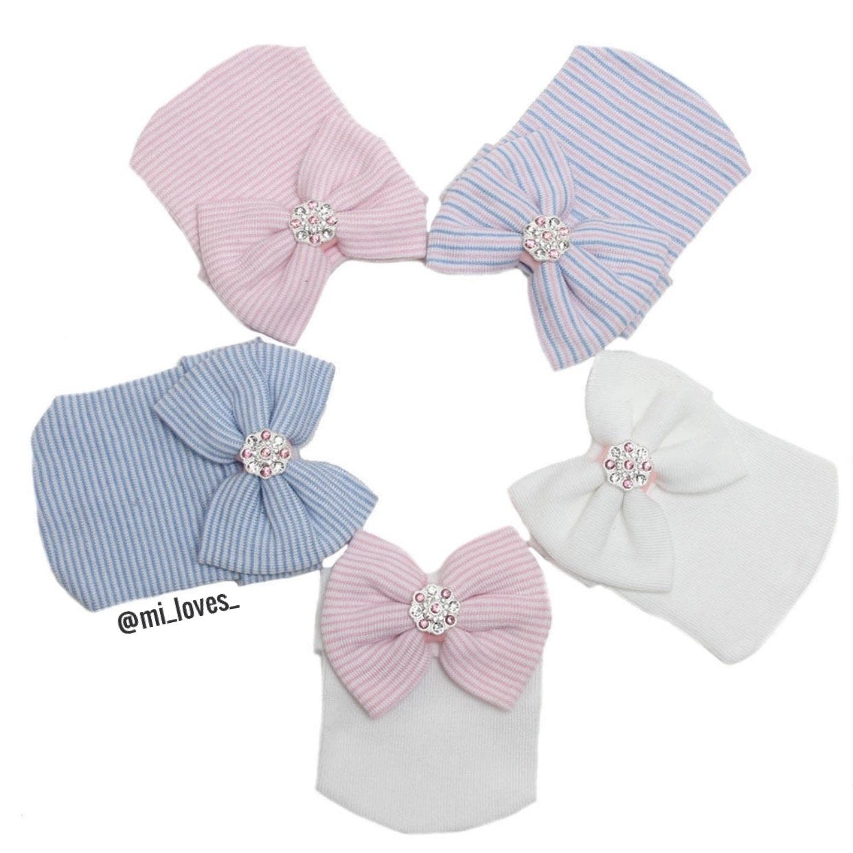 Pretty bow baby hospital hat
