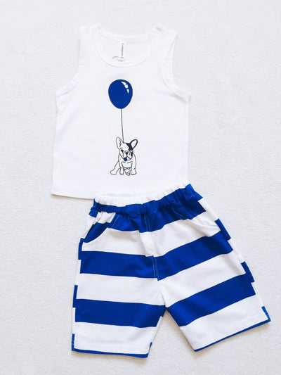 ,,PUPPY'' 2 piece set in blue