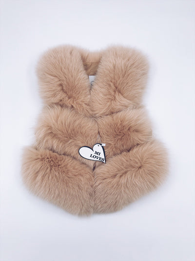 ADULT !!Pre-Order(Delivery in 2 weeks)Luxurious MI LOVES SIGNATURE  Fox fur vest