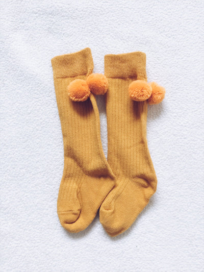 High Knee PomPom socks
